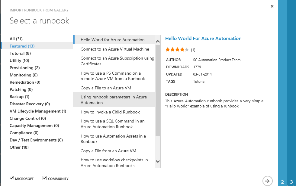 Automation fans: Meet the Runbook Gallery   AzureMan com