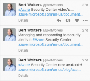 Security Center - Tweets