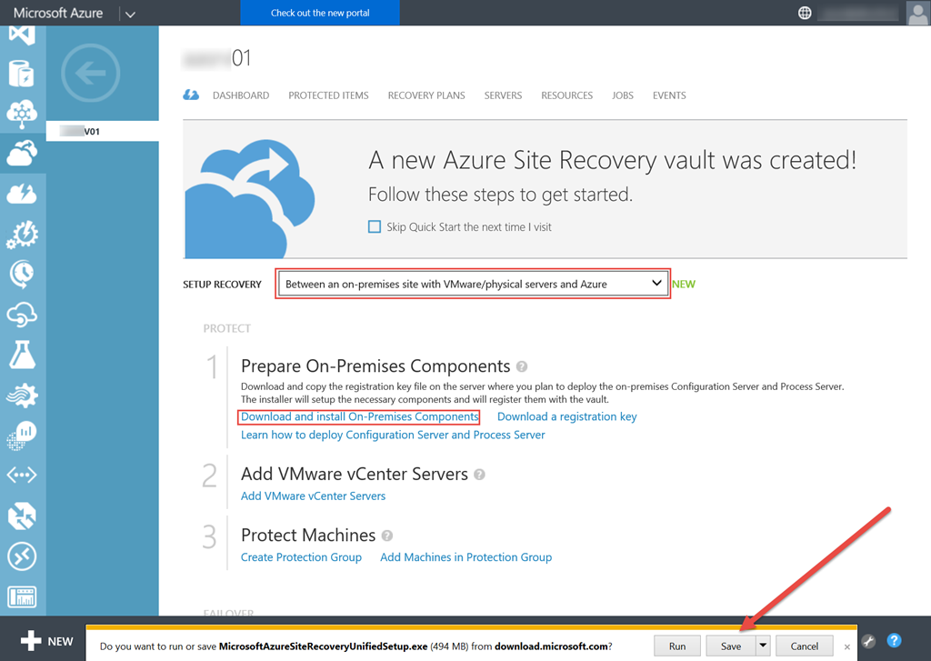 Azure Site Recovery for VMware