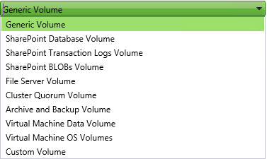 Volume types SS