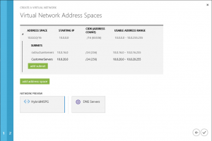 Define network adress space