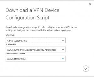 Save config file vpn