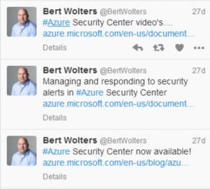 Security Center - Tweets