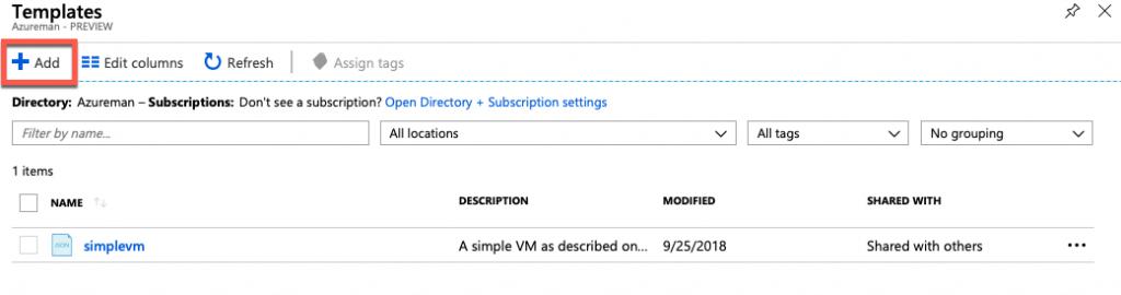 Azureman template repository properties Azure Windows coaching training consultancy knowhow Microsoft
